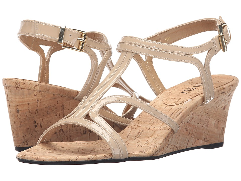 Vaneli - Merope (Ecru Mag Patent) Women's Wedge Shoes
