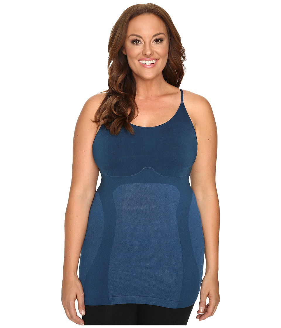 HUE - Plus Size Seamless Shaping Cami (Insignia Blue) Women's Sleeveless