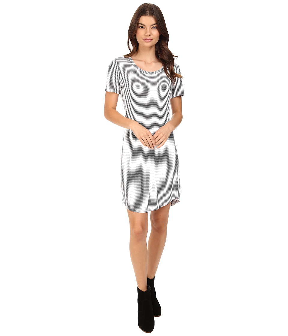 Splendid - Codette Mini Rib T-Shirt Dress (White) Women's Dress