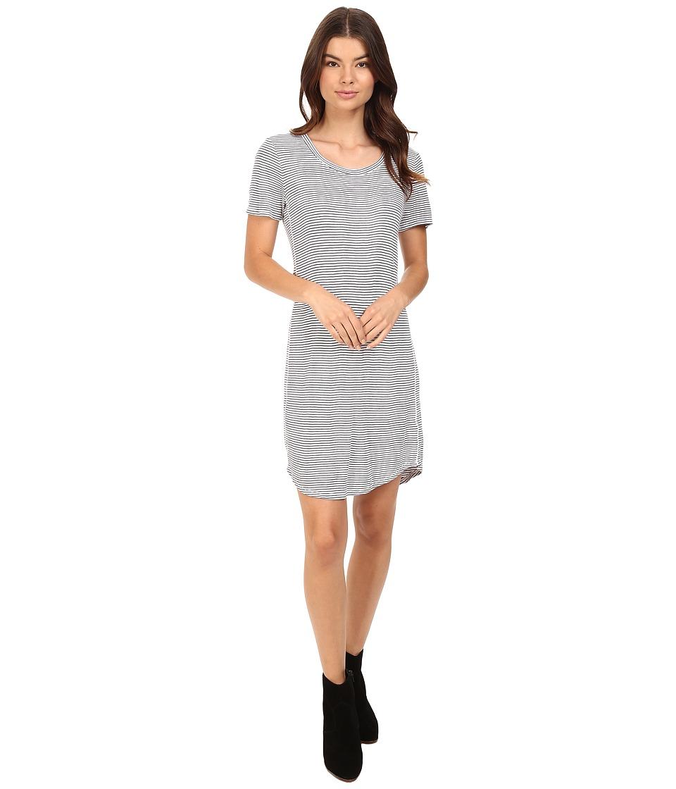 Splendid - Codette Mini Rib T-Shirt Dress (White) Women's Dress