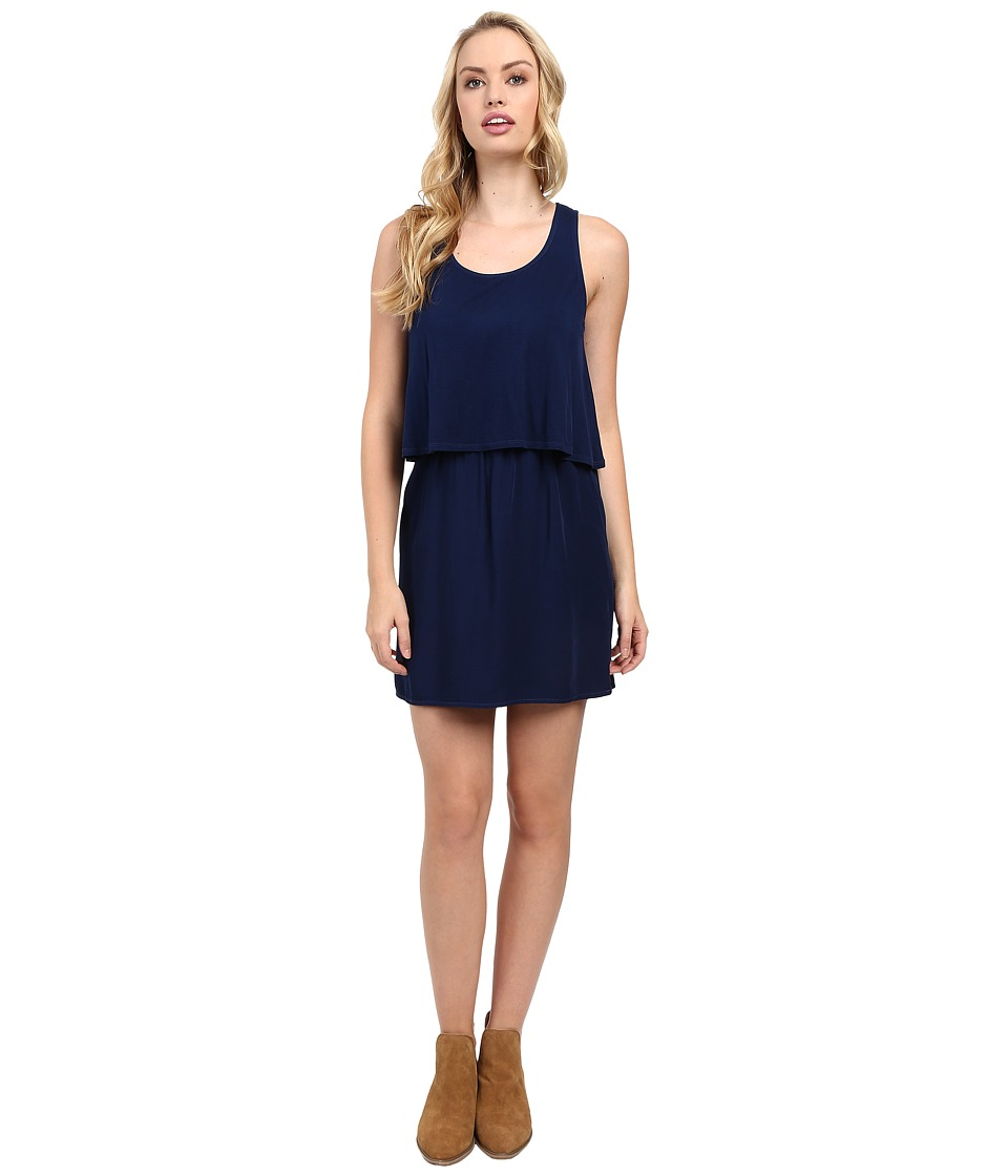 Splendid - Rayon Voile and Jersey Dress (Academy Navy) Women's Dress