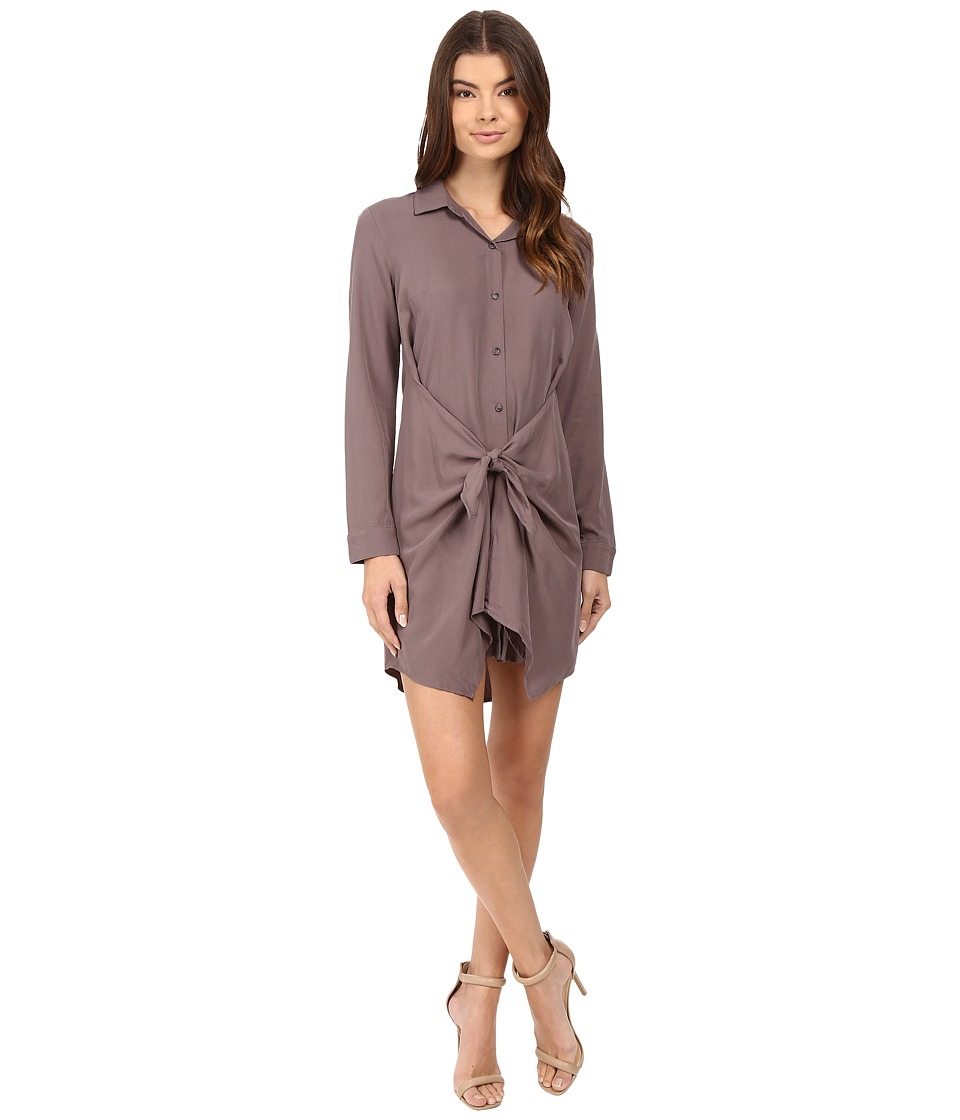 Splendid - Rayon Voile Tie Dress (Titanium) Women's Dress