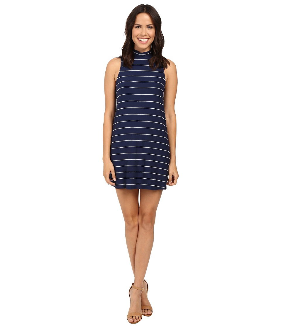 Splendid - Loralie Stripe Mock Neck Dress (Academy Navy) Women's Dress