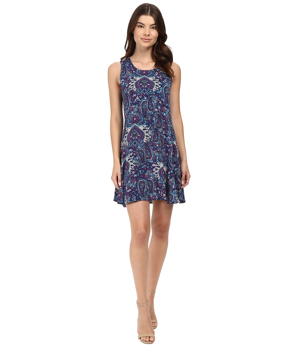 Splendid - Kloe Paisley Dress (Navy Multi) Women's Dress