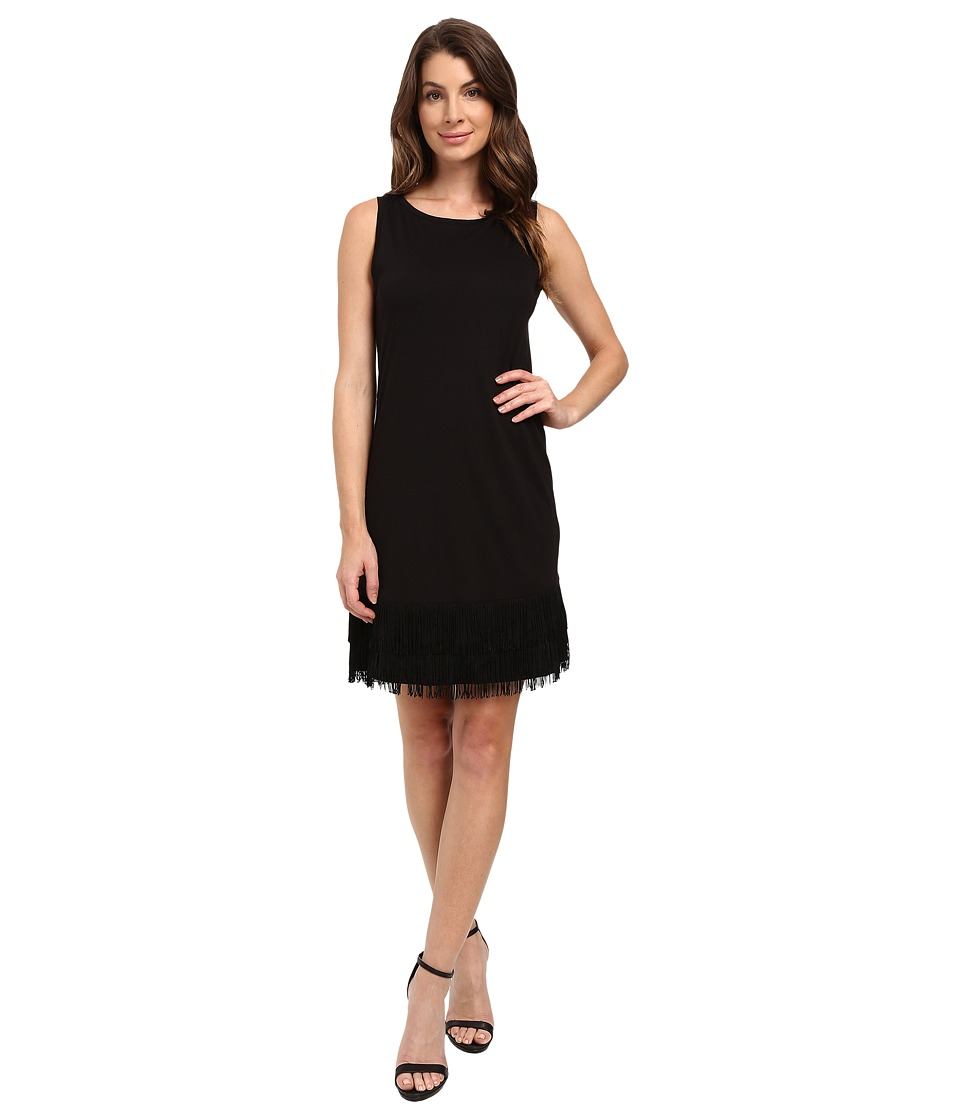 Splendid - Fringe Dress (Black) Women's Dress
