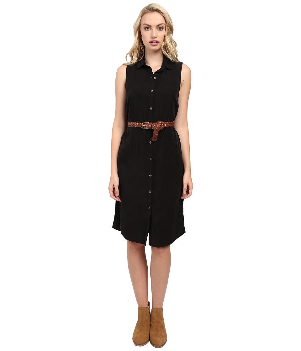 Splendid - Wilder Tencel Dress (Black) Women's Dress