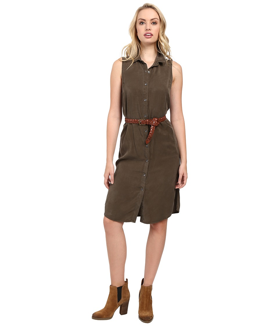 Splendid Wilder Tencel Dress (Military Olive) Women