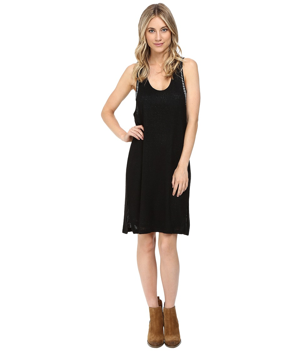 Splendid - Bardane Drapey Lux Tank Dress (Black/Black) Women's Dress
