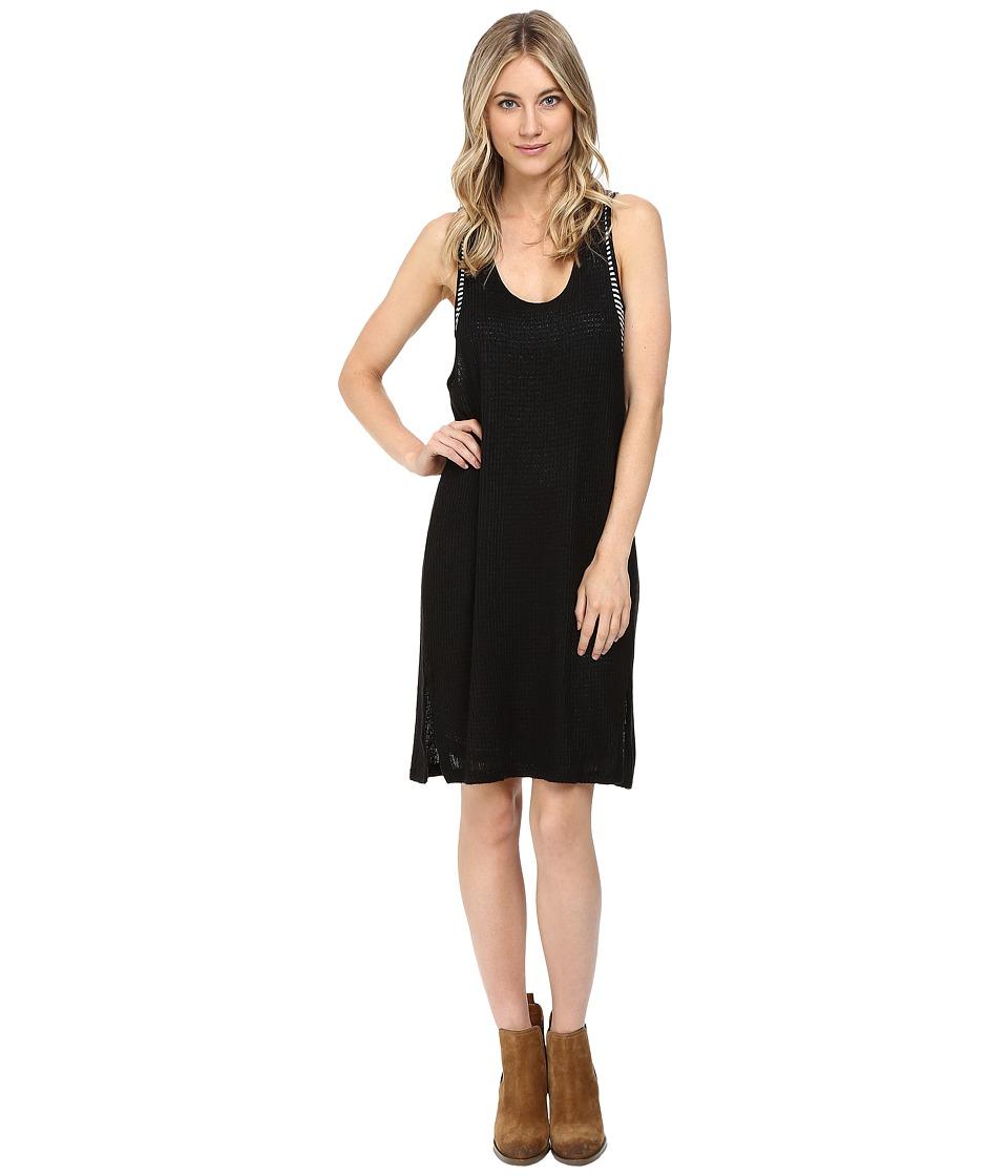 Splendid Bardane Drapey Lux Tank Dress (Black/Black) Women
