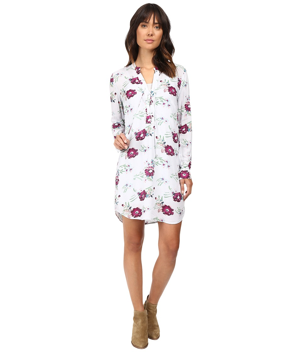 Splendid - Cindelle Floral Print Dress (Dove Grey) Women's Dress