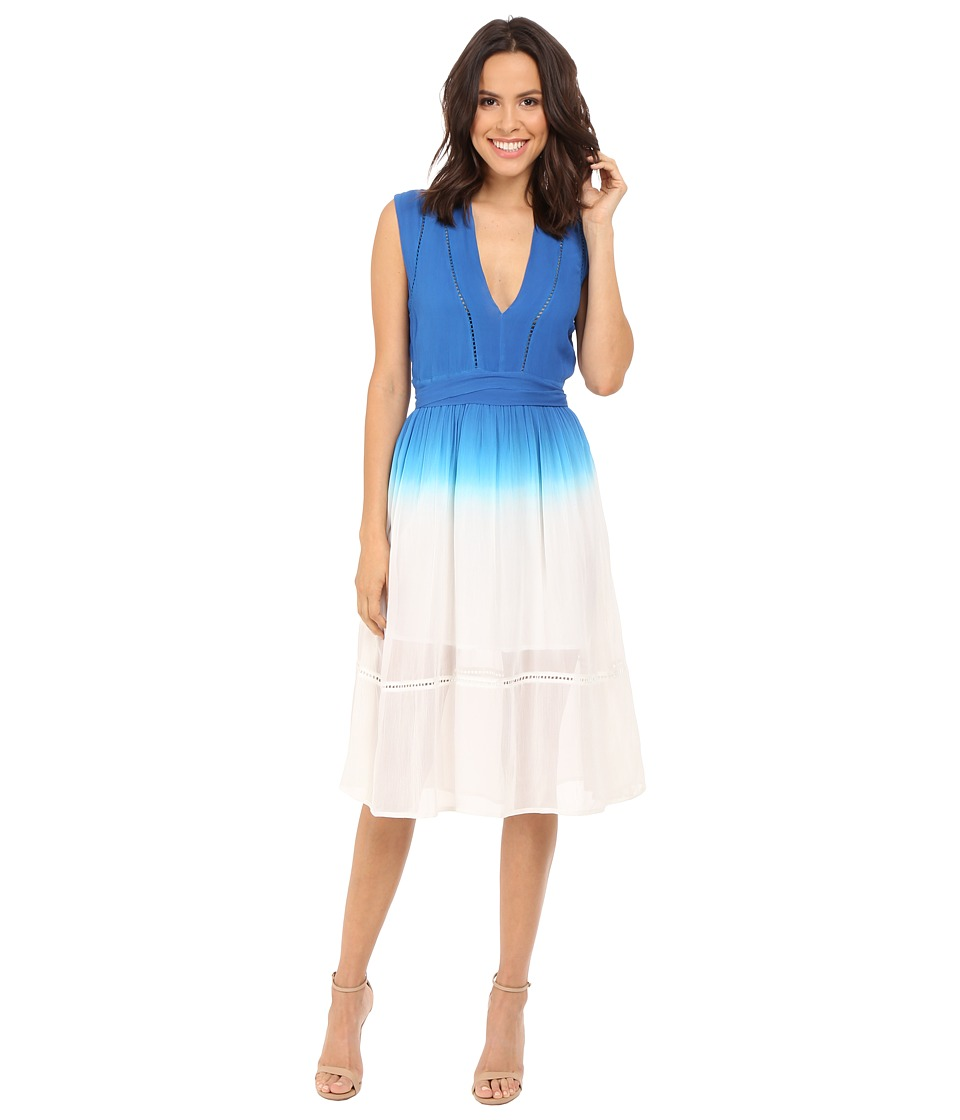 Adelyn Rae - Dip-Dye Dress (Blue/White) Women's Dress