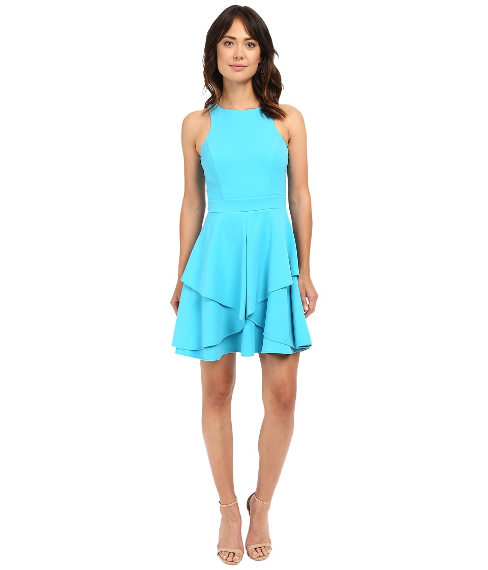 Adelyn Rae Fit and Flare Dress (Light Blue) Women