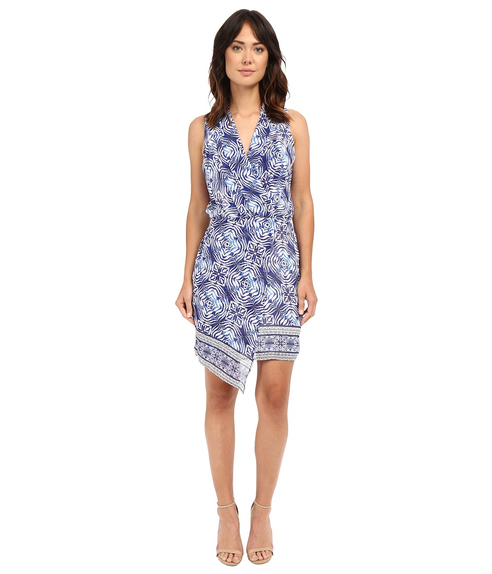 Adelyn Rae - Trible Print Dress (Blue/White) Women's Dress