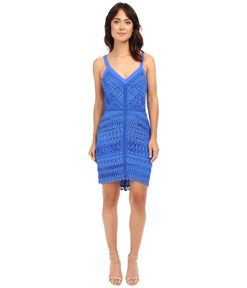 Adelyn Rae - Fitted Lace Dress (New Blue) Women's Dress