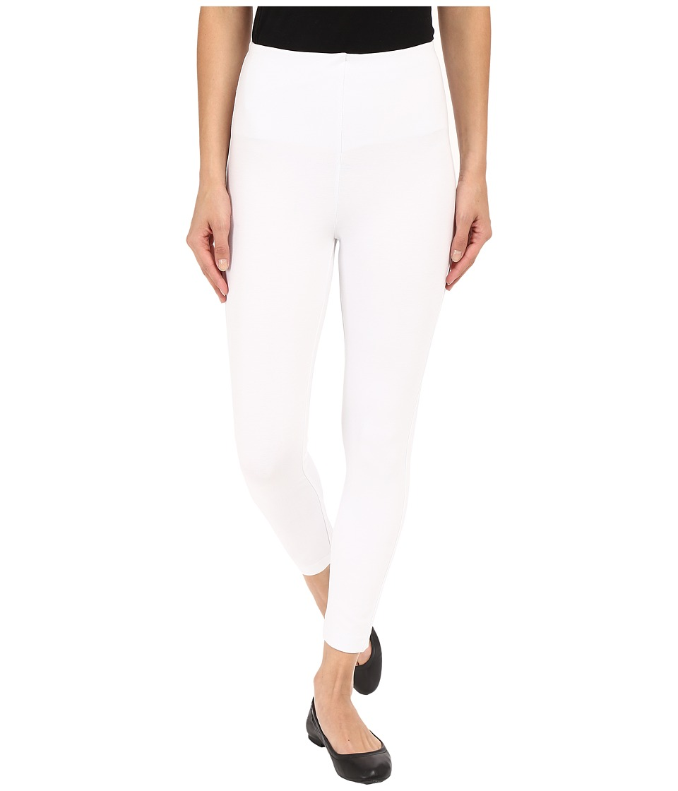 Lysse - High Waist Back Zip Crop (White) Women's Casual Pants