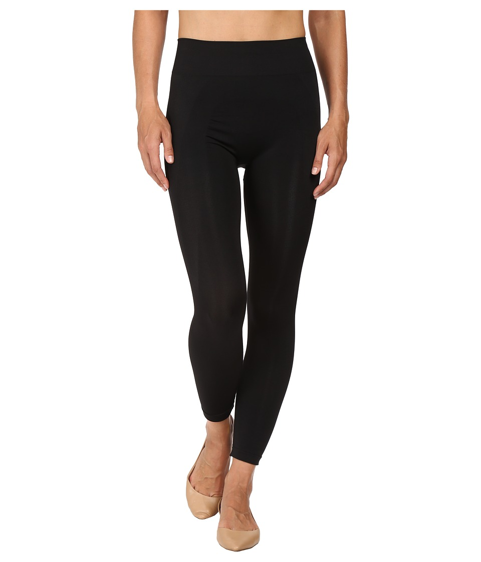 HUE - Seamless Shaping Capris (Black) Women's Capri