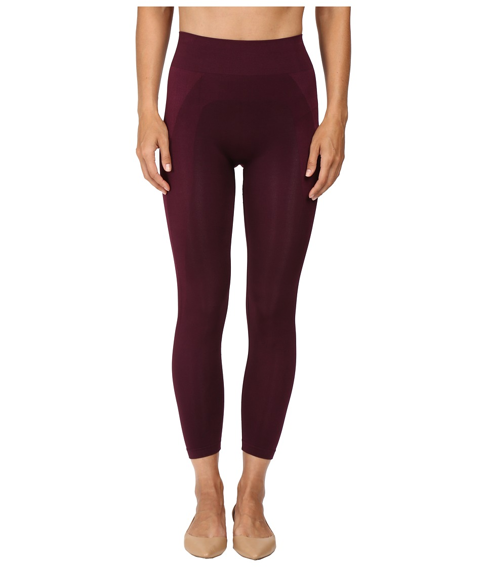 HUE Seamless Shaping Capris (Deep Burgundy) Women