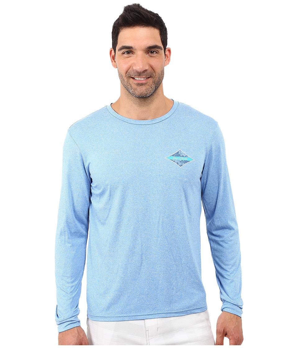 Jack O'Neill - Leeward Long Sleeve Screen Tee (Blue) Men's Long Sleeve Pullover