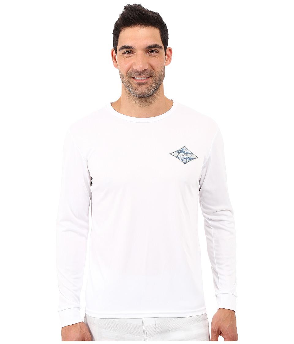 Jack O'Neill - Leeward Long Sleeve Screen Tee (White) Men's Long Sleeve Pullover