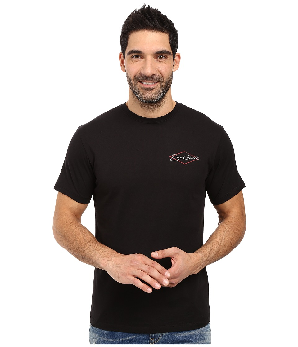 Jack O'Neill - Hooked Short Sleeve Screen Tee (Black) Men's T Shirt