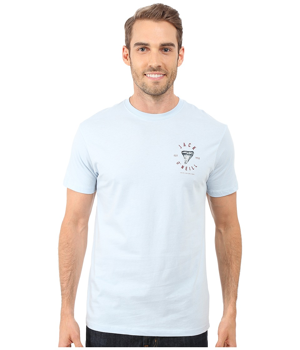 Jack O'Neill - Big Bite Short Sleeve Screen Tee (Light Blue) Men's T Shirt