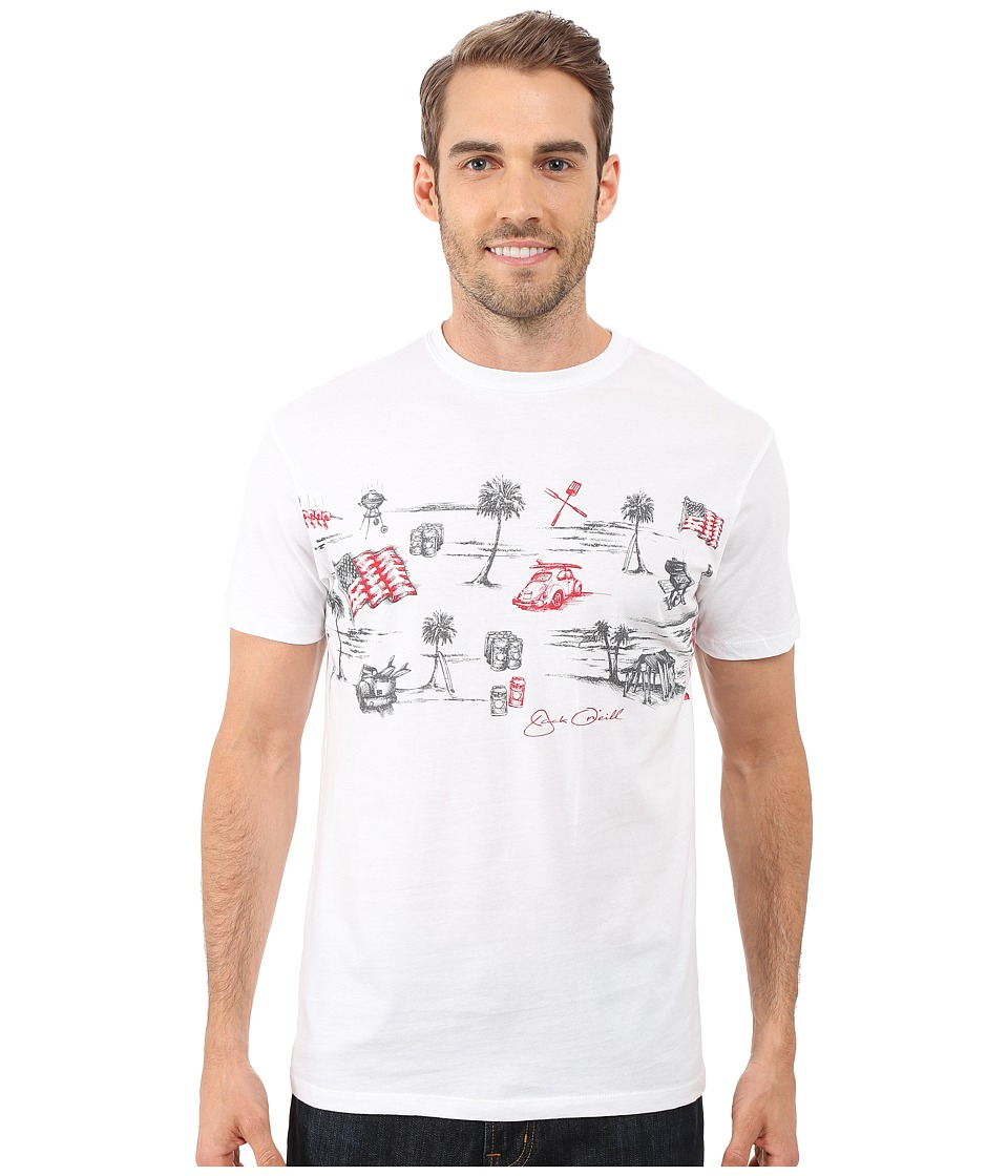 Jack O'Neill - Grilled Short Sleeve Screen Tee (White) Men's T Shirt