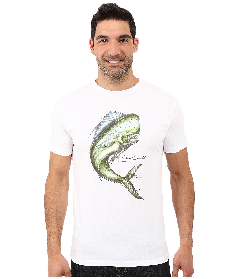 Jack O'Neill - Trophy Short Sleeve Screen Tee (White) Men's T Shirt