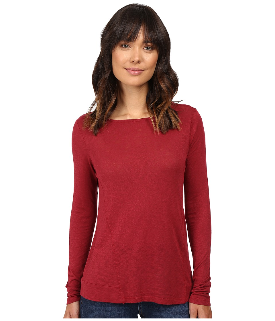 Splendid - Slub Long Sleeve (Cranberry) Women's Clothing