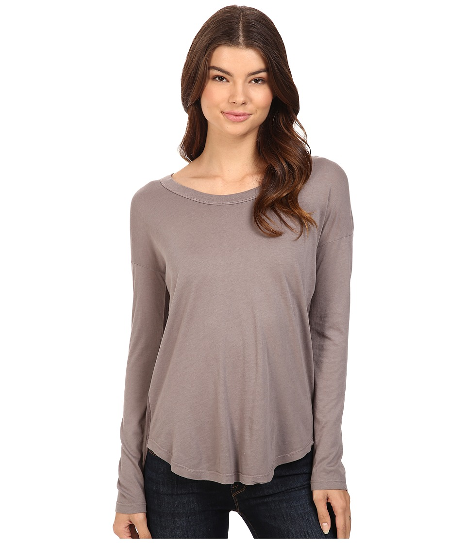 Splendid - Drop Sleeve Jersey Top (Titanium) Women's Sleeveless