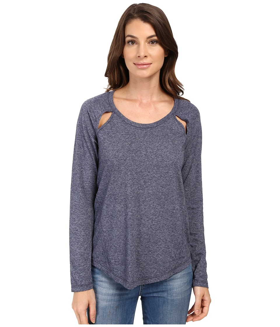 Splendid - Tri-Blend Jersey Long Sleeve (Academy Navy) Women's Clothing