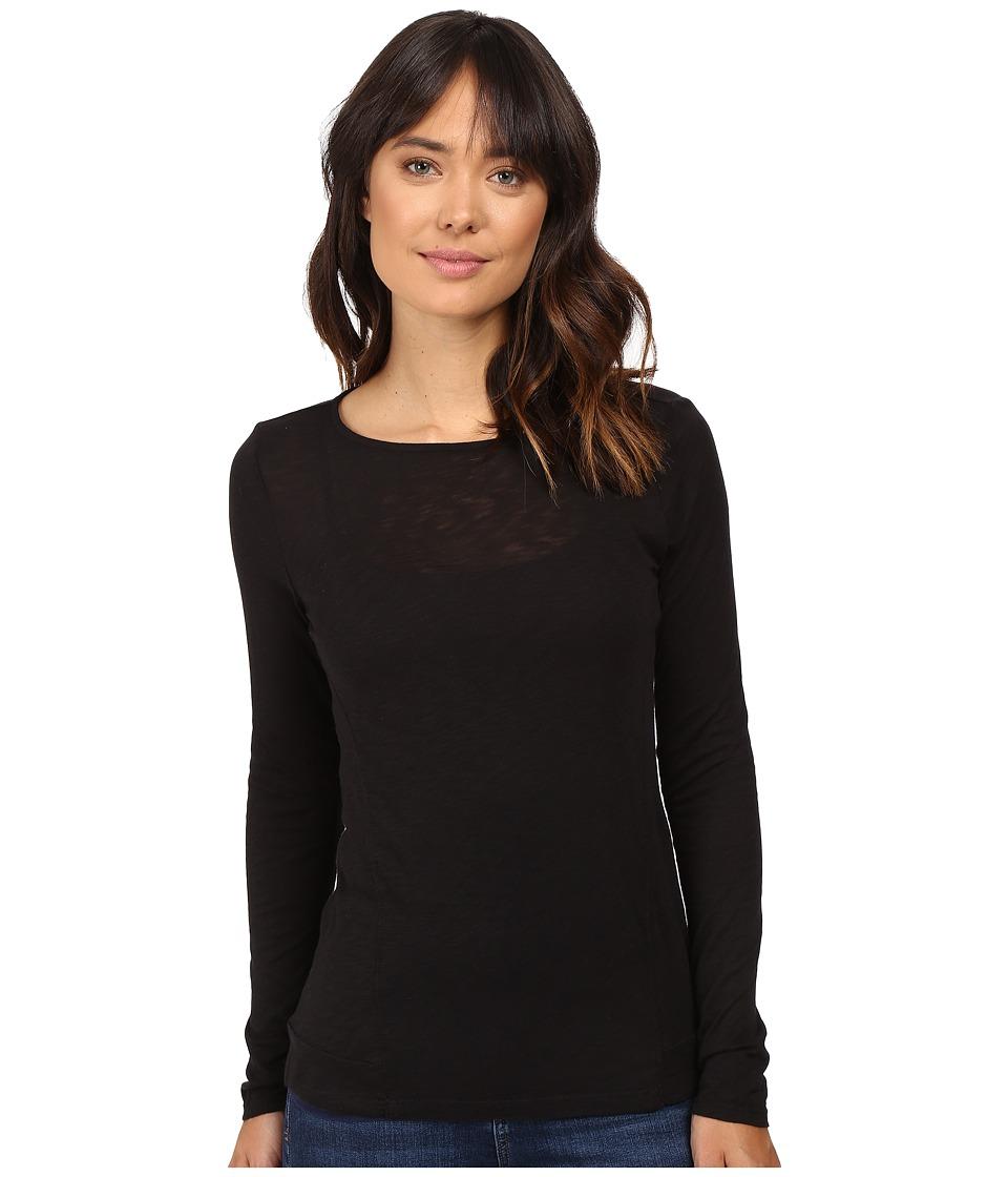 Splendid - Slub Long Sleeve (Black) Women's Clothing