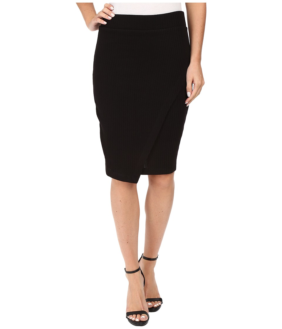 Splendid Sylvie Rib Skirt (Black) Women