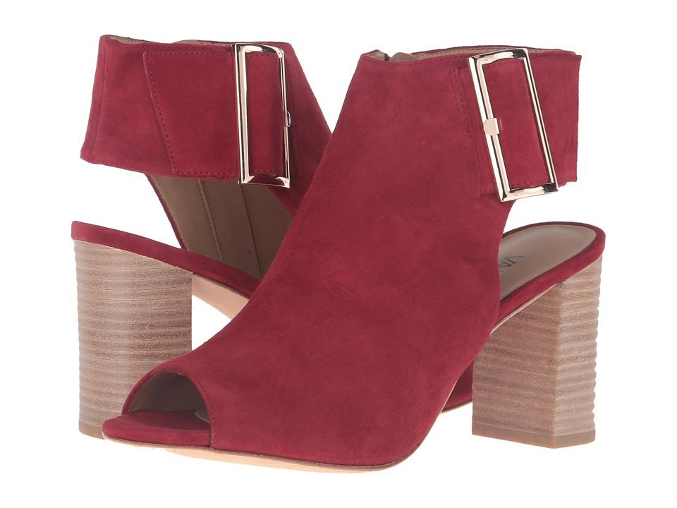 Vaneli - Bisa (Red Suede/Gold Buckle) High Heels