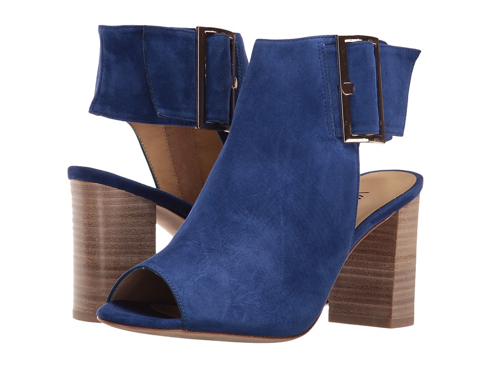 Vaneli - Bisa (French Blue Suede/Gold Buckle) High Heels