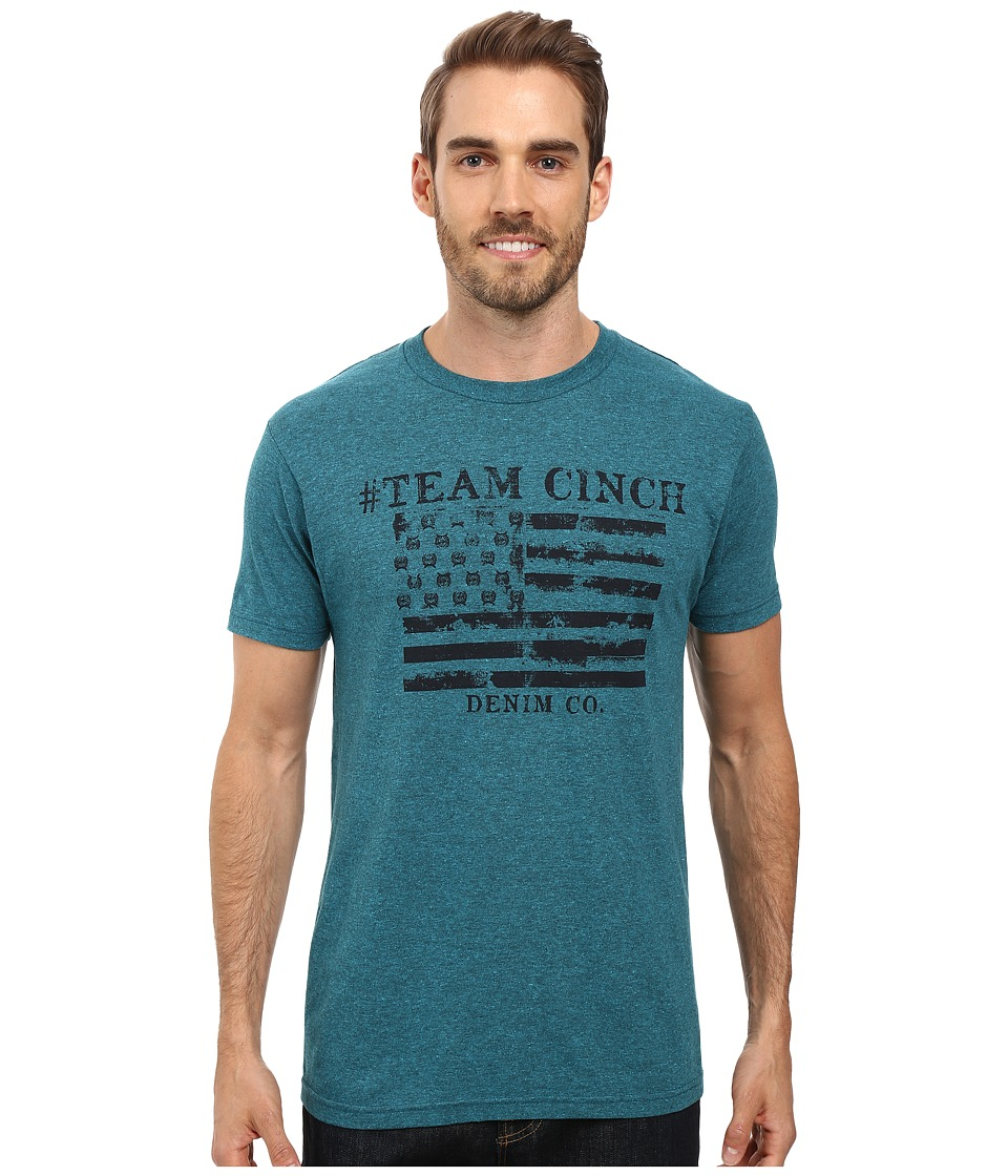 Cinch - Soft Hand Jersey Short Sleeve Tee (Teal) Men's T Shirt