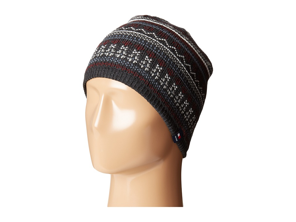 Tommy Hilfiger - Fair Isle Hat (Charcoal) Caps