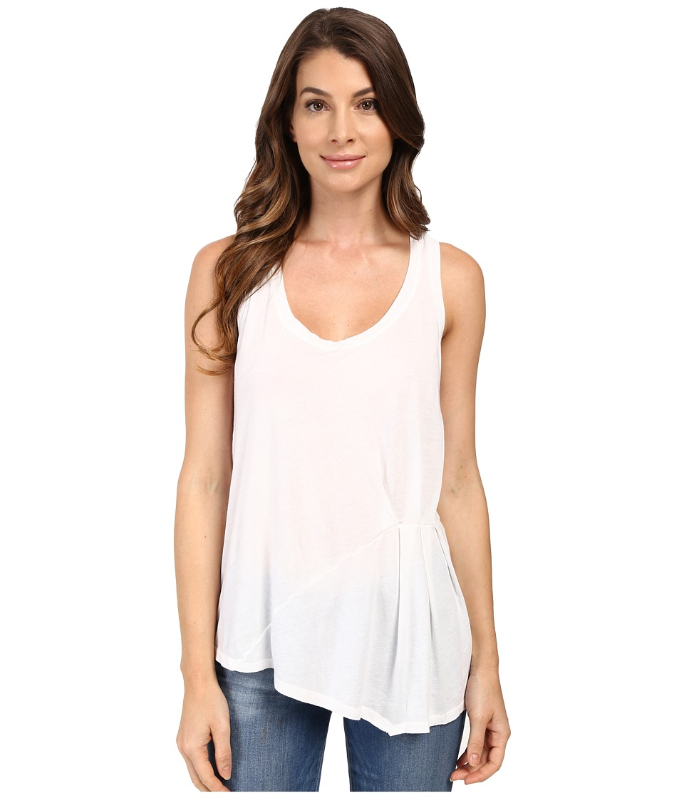 Splendid - Vintage Whisper Pleated Tank Top (Paper) Women's Sleeveless