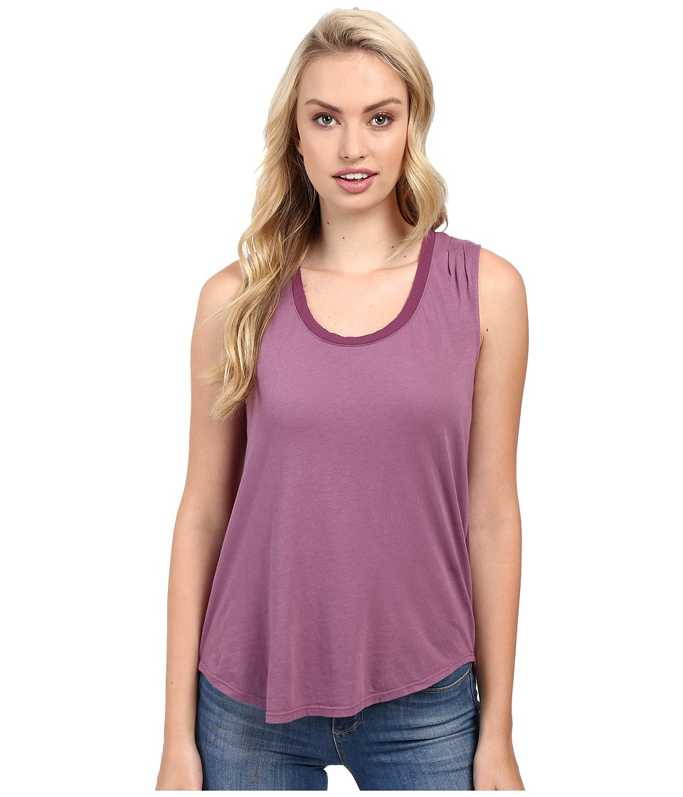 Splendid - Very Light Jersey with Rib Tank Top (Grape) Women's Sleeveless