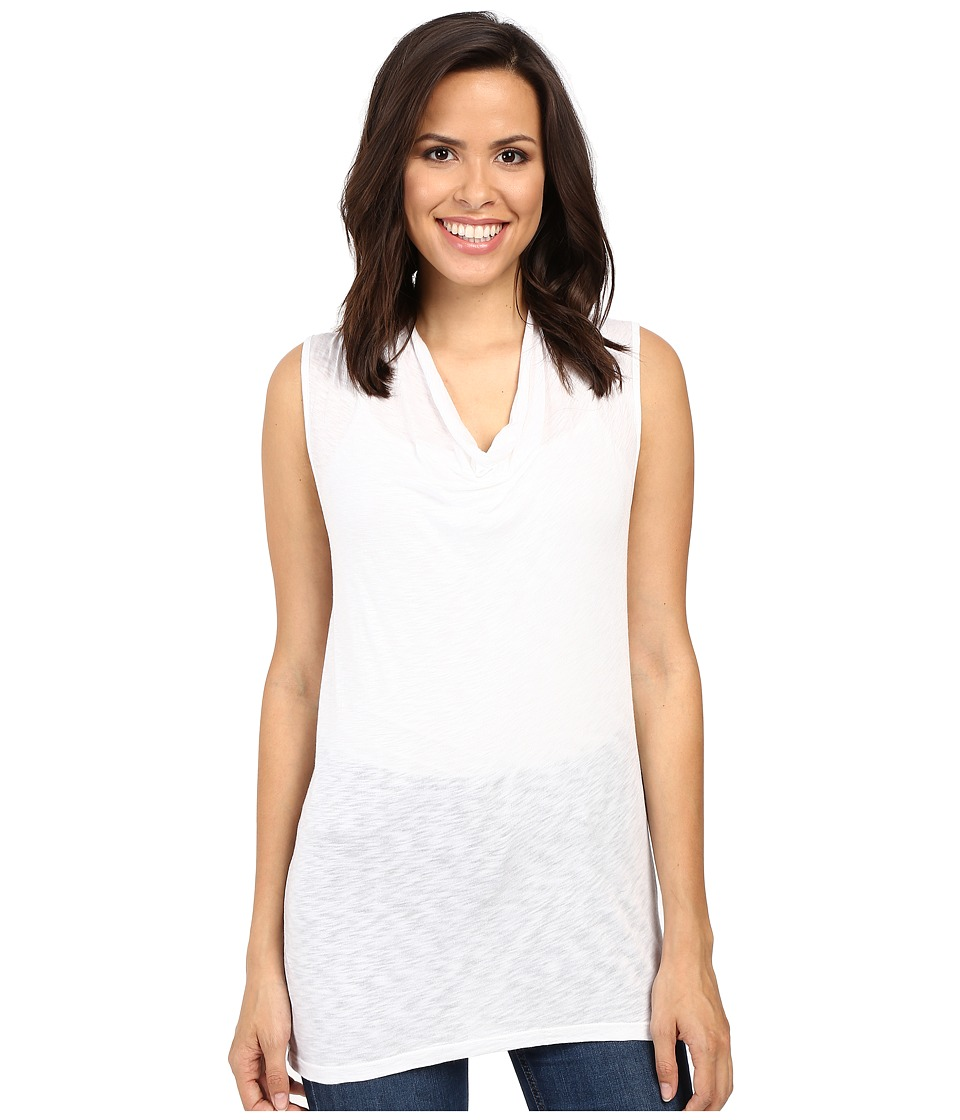 Splendid - Slub Cowl Neck Tank Top (White) Women's Sleeveless