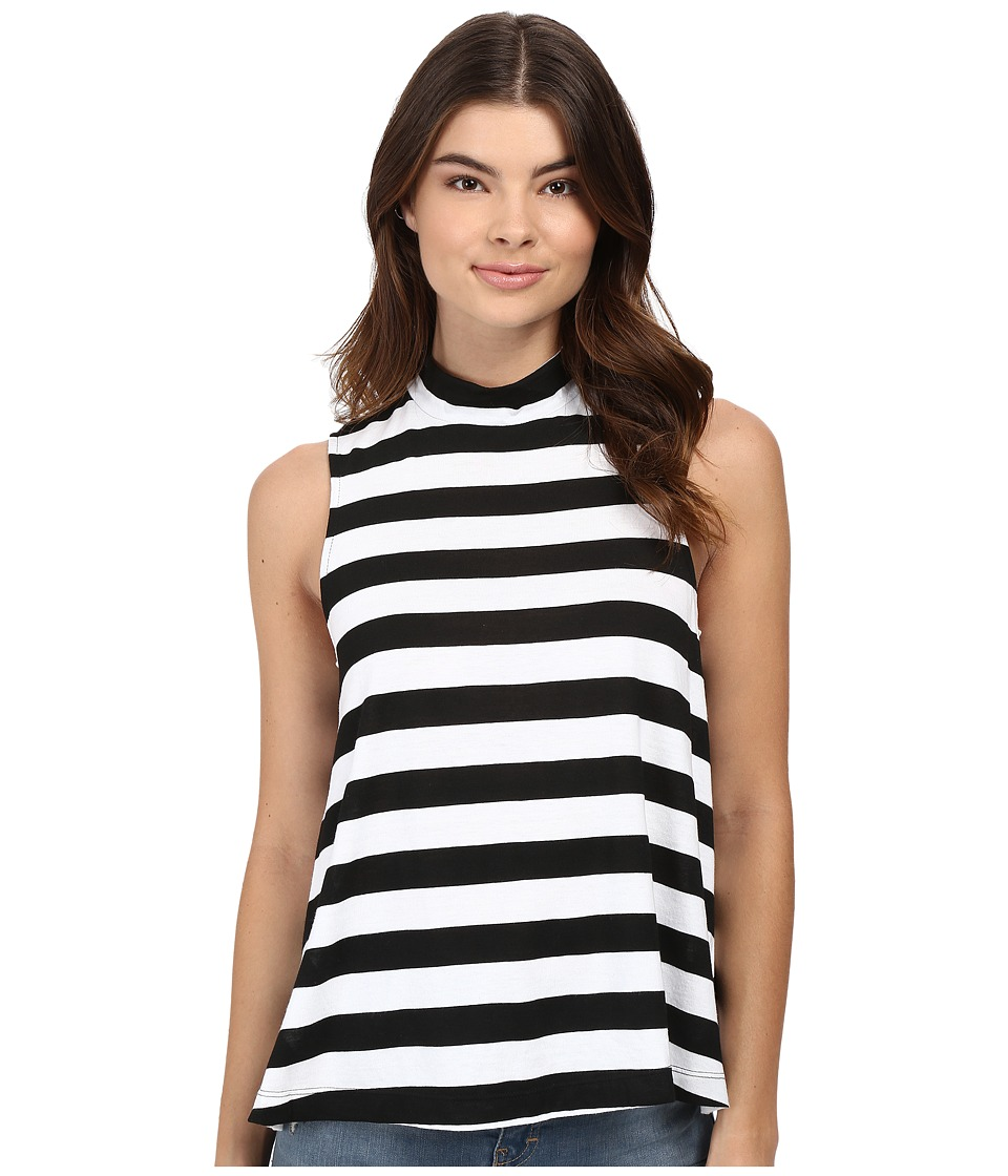 Splendid - Delcia Rugby Stripe Tank Top (White/Black) Women's Sleeveless