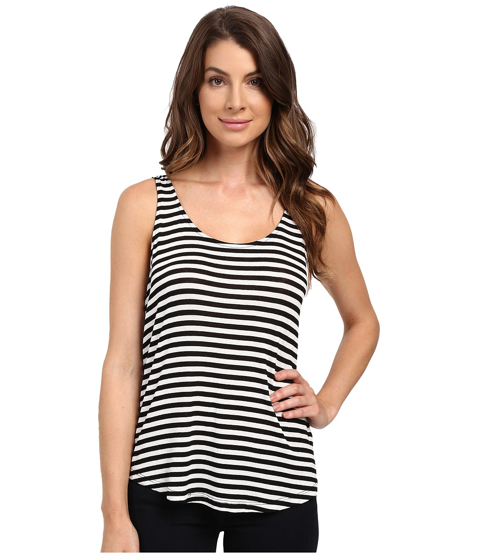 Splendid - Drapey Lux Stripe Tank Top (White/Black) Women's Sleeveless