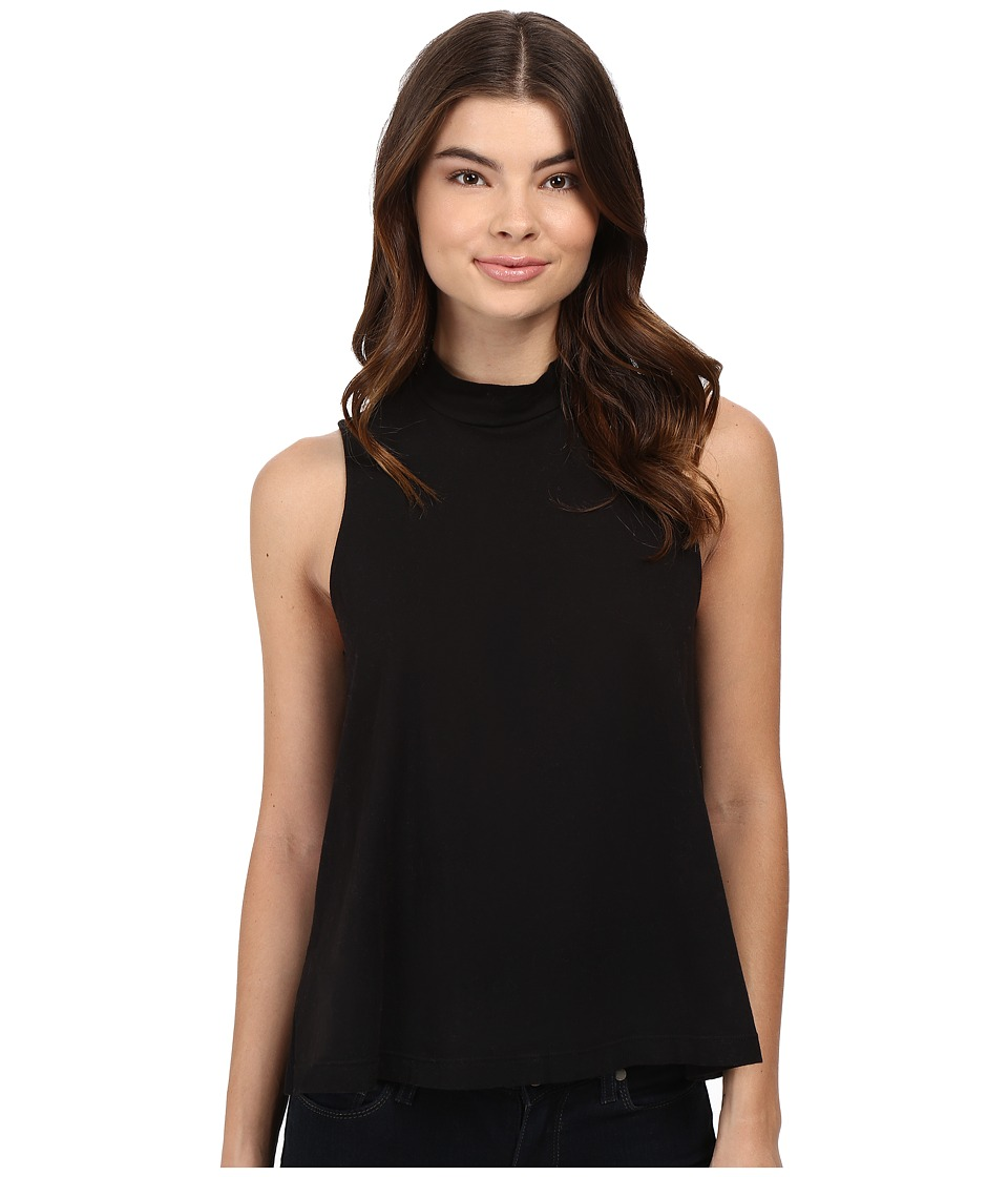 Splendid - Delcia Mock Neck Tank (Black) Women's Sleeveless