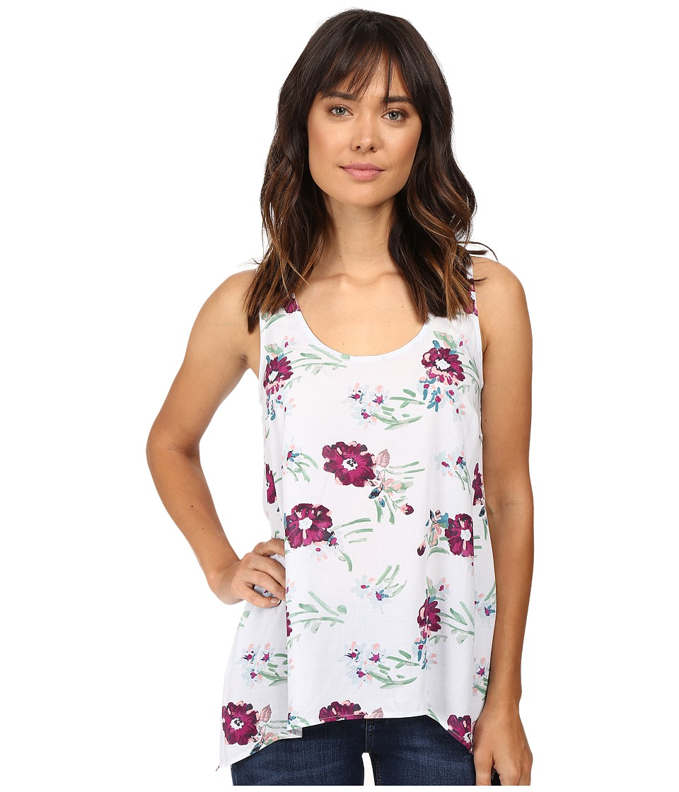 Splendid - Cindelle Floral Print Tank Top (Dove Grey) Women's Sleeveless