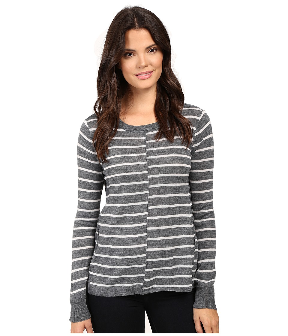 Paige - Allie Stripe Sweater (Medium Heather Grey/Light Heather Grey Stripe) Women's Sweater