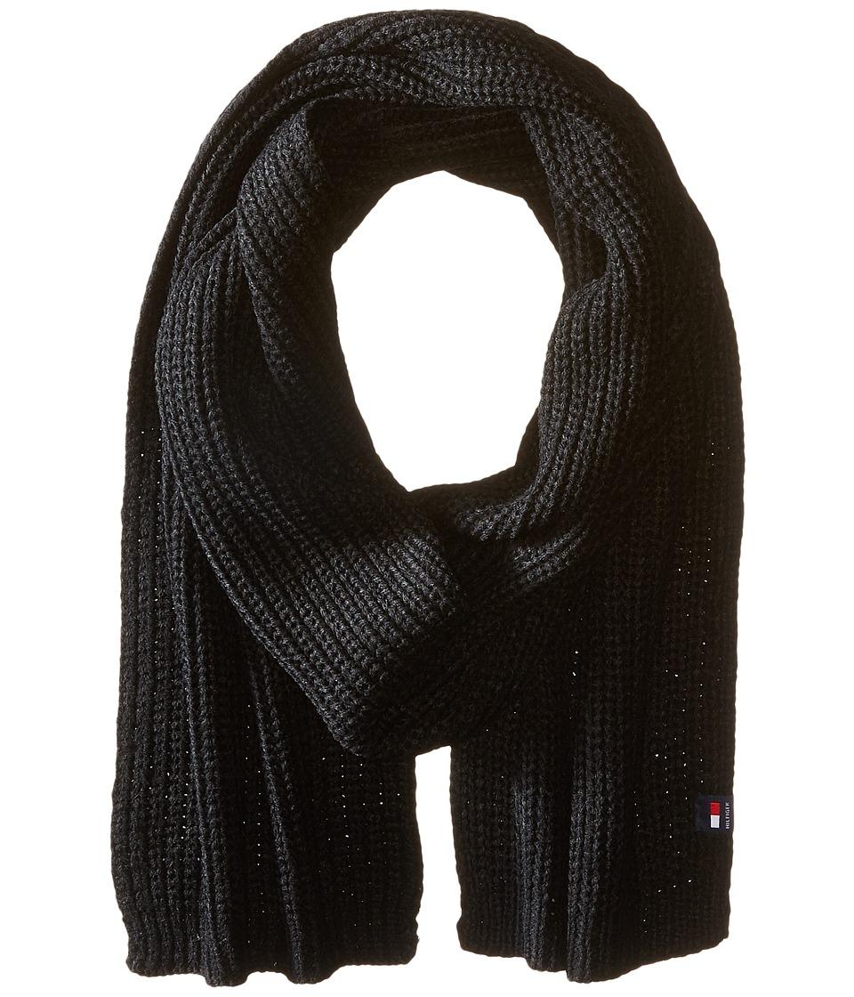 Tommy Hilfiger - Chunky Rib Stitch Scarf (Black) Scarves