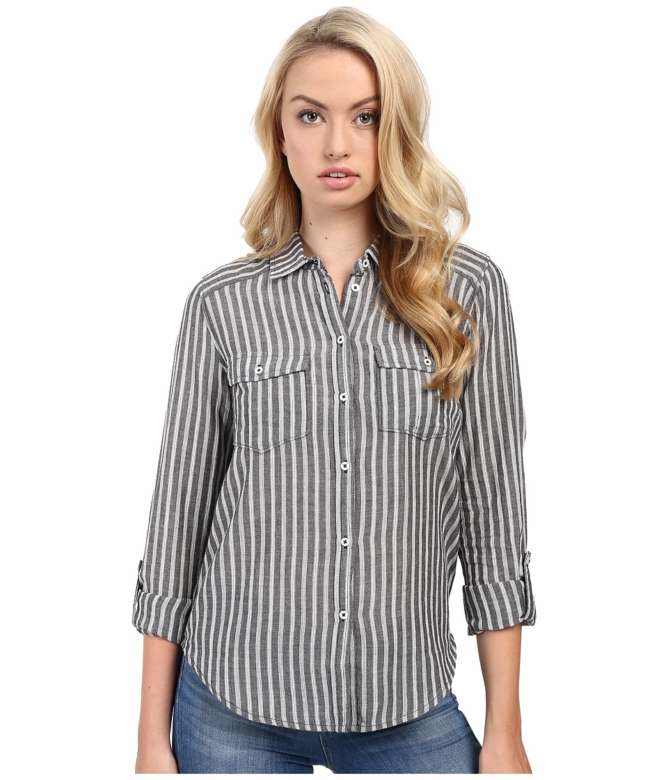 Paige - Mable Shirt (Black/White) Women's Clothing