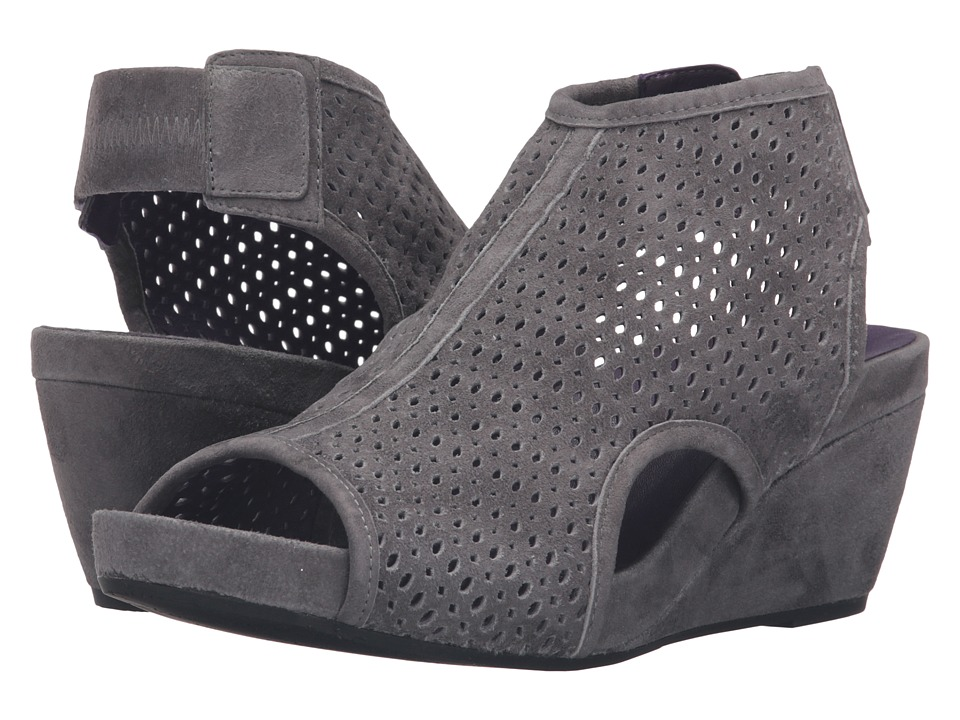 Vaneli - Inez (Grey Suede/Gunmetal Studs) Women's Wedge Shoes
