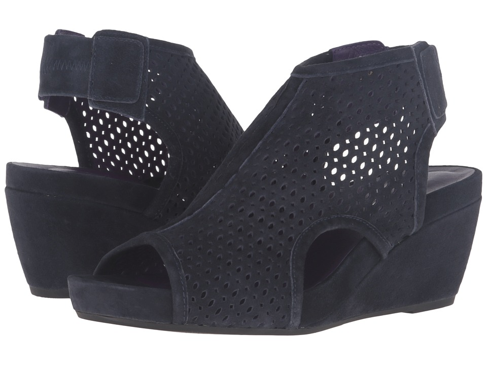 Vaneli - Inez (Navy Suede/Gunmetal Studs) Women's Wedge Shoes