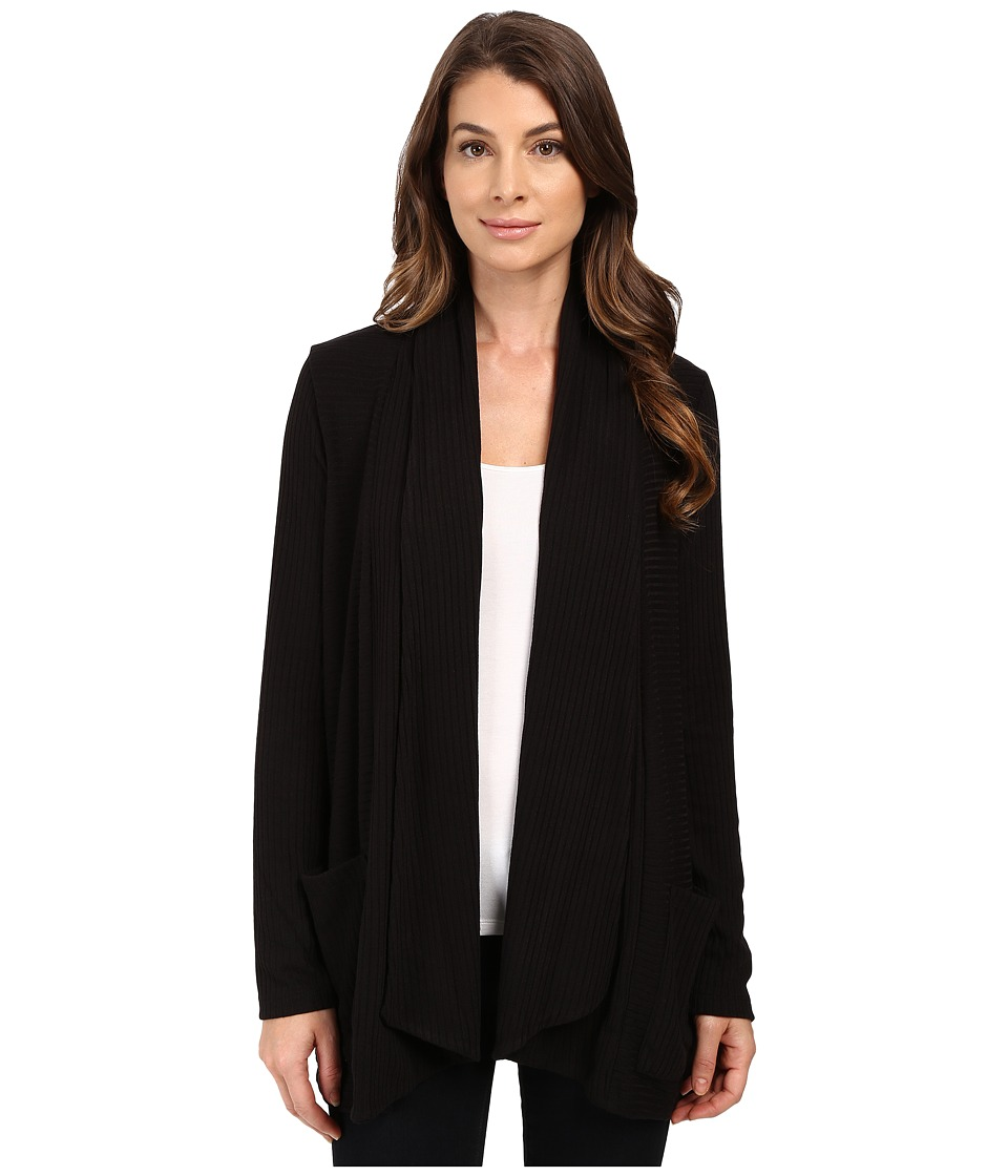 Splendid - Sylvie Rib Cardigan (Black) Women's Sweater