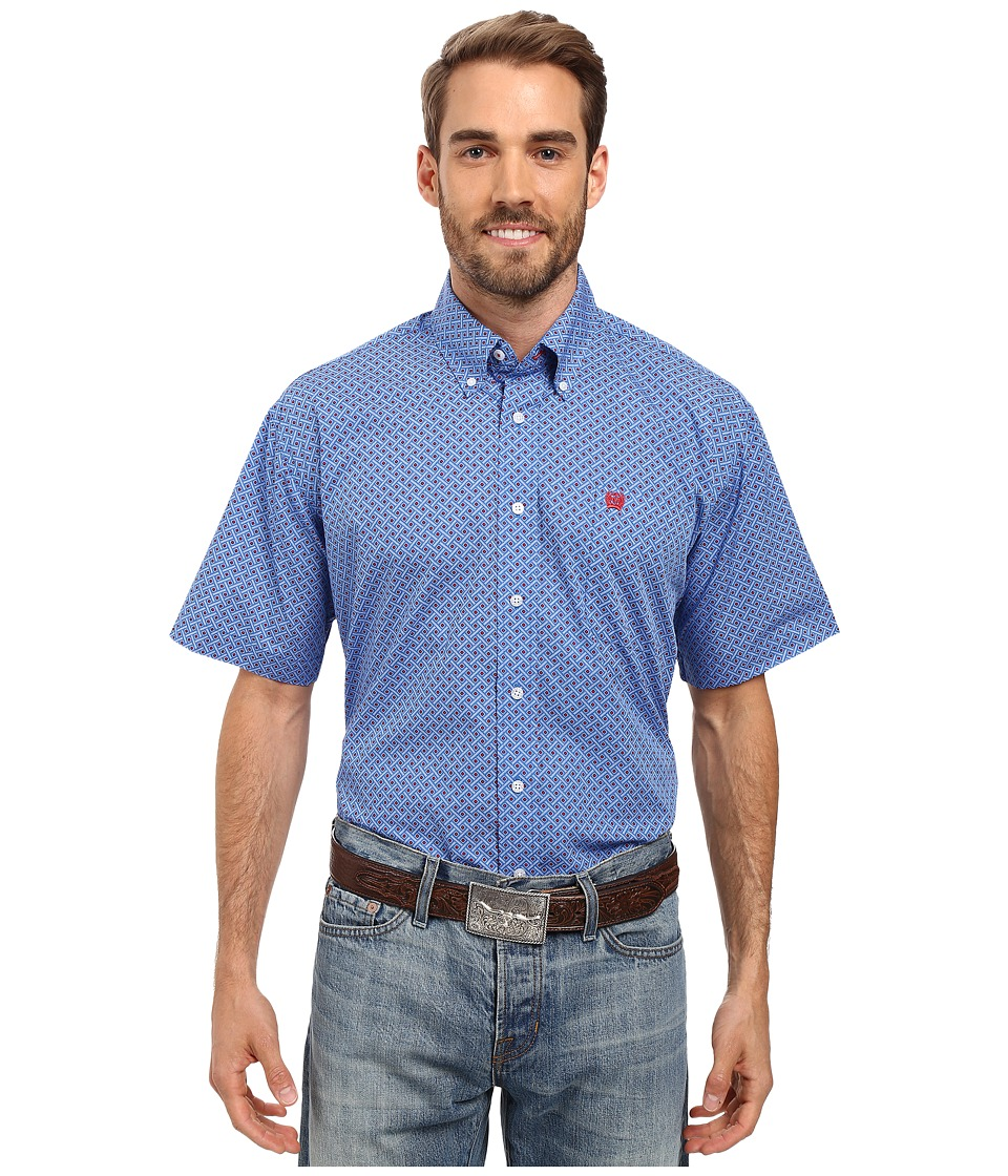 Cinch - Short Sleeve Print (Royal) Men's Clothing